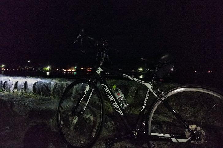 ロードバイクと嵐山