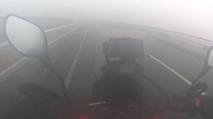 CRF250RALLY霧の中