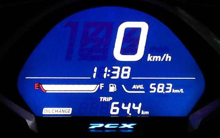 JF81PCXの実燃費