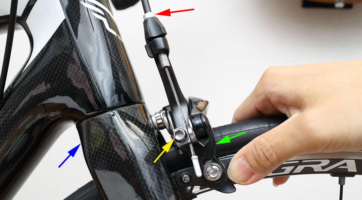 ブレーキ 直し 方 自転車 クロスバイクのVブレーキの調整方法